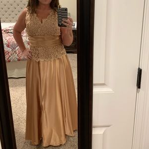 Champagne formal gown